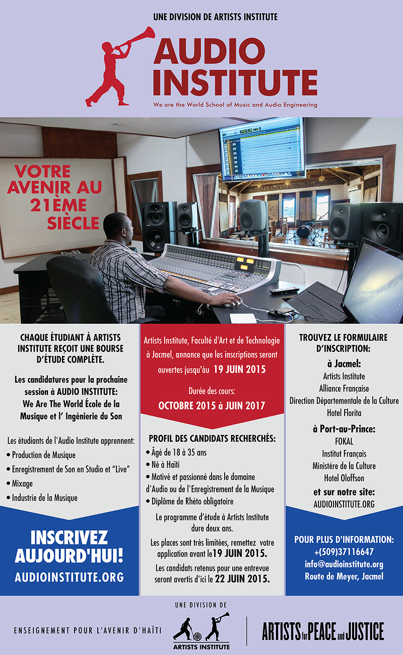 Audio Institute Admissions Poster 2015-01